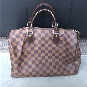 Louis Vuitton AUTHENTIC Damier Ebene Speedy 30